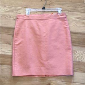 Jcrew No. 2 pencil skirt size 8 peach